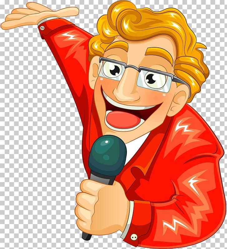 Dibujos animados cantante locutor, diseño PNG Clipart.