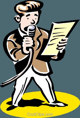 Locutor libres de derechos ilustraciones de vectores clipart.