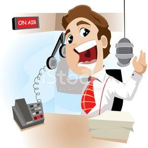 Radio Announcer Clipart Image.