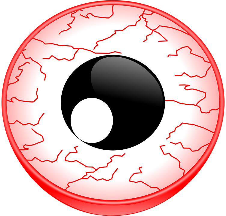 Free vector graphic: Eye, Red, Vein, Core, Lode.