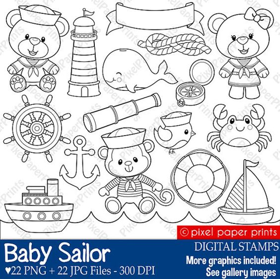 Baby Sailor Stamps.