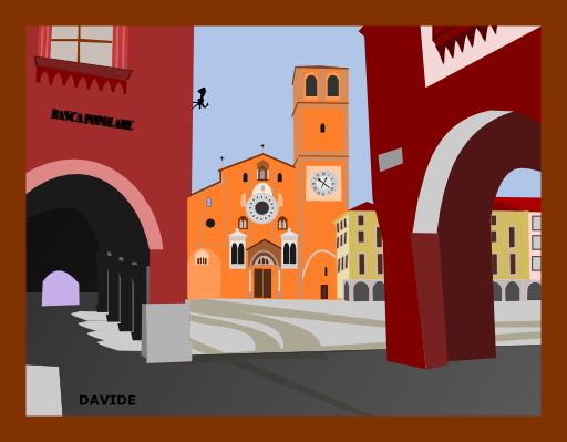 Piazza Della Vittoria Lodi Italia Clipart.