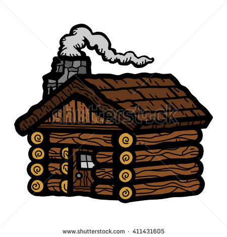 Log Cabin Stock Images, Royalty.