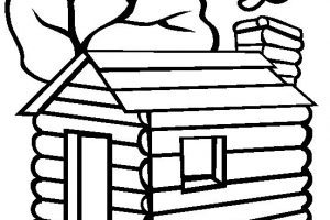 Log cabin clipart black and white 1 » Clipart Portal.