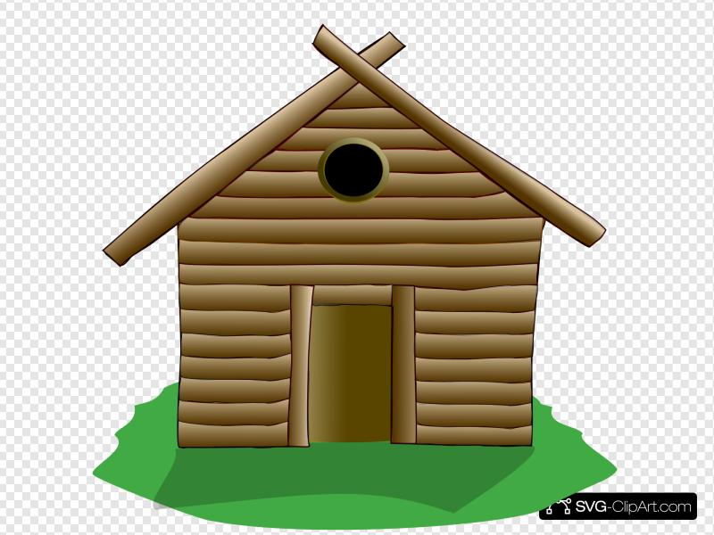 Log Cabin Clip art, Icon and SVG.