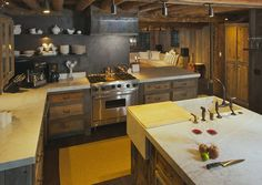 Oak wood cabinet kitchen with engineered wood plank flooring and.