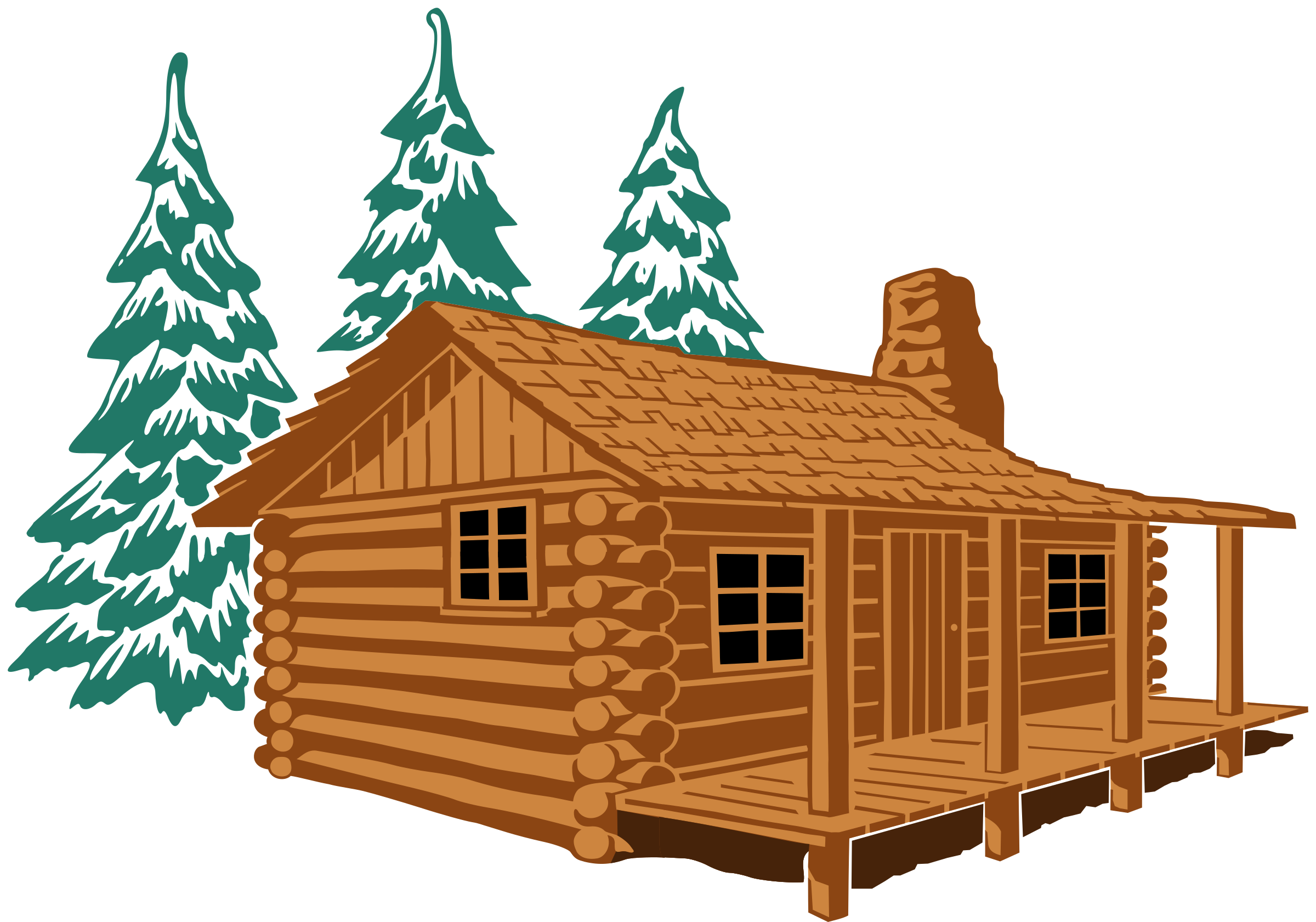 Showing post & media for Log cabin clip art cartoon.