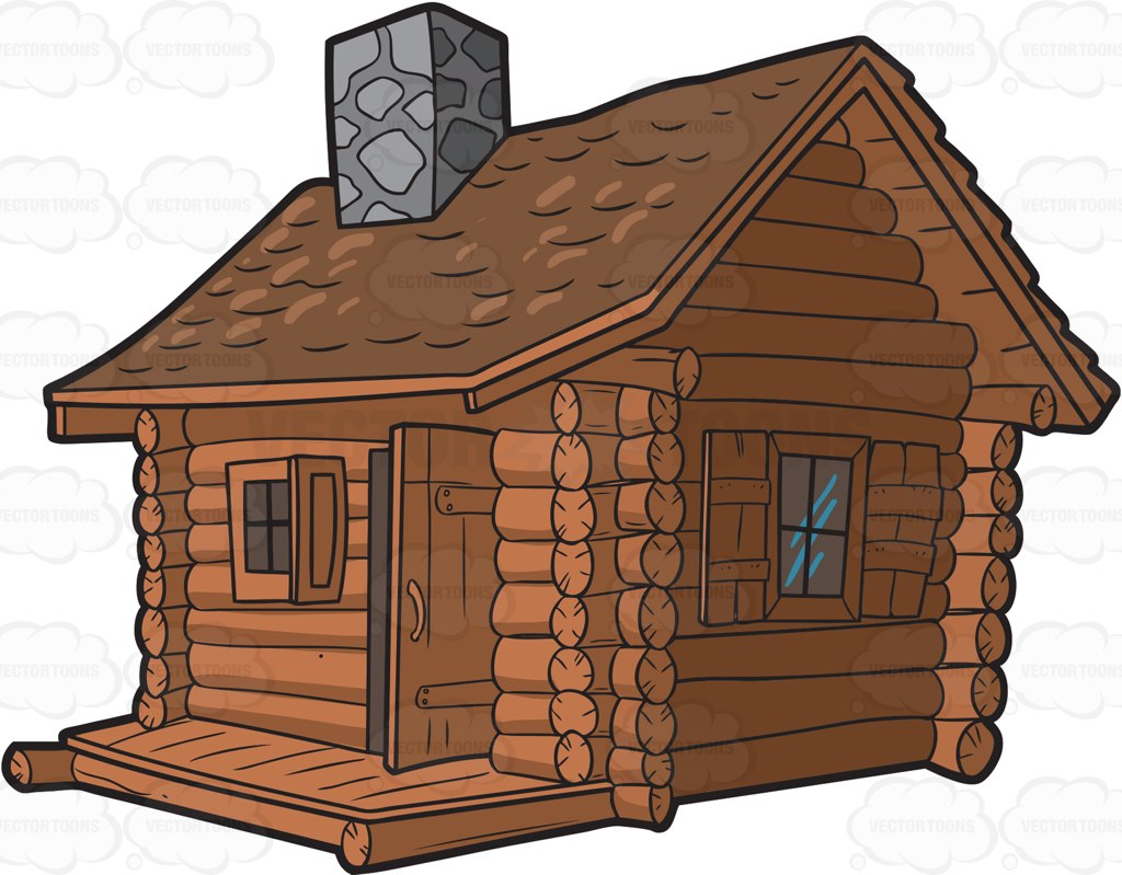 Showing post & media for Log cabin clip art cartoon.