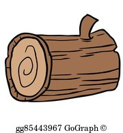 Wood Log Clip Art.