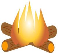 Log Fire Clipart.
