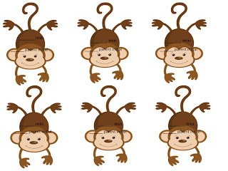 Hanging Monkey Clip Art.