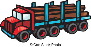 Logging truck Clipart Vector Graphics. 372 Logging truck EPS.