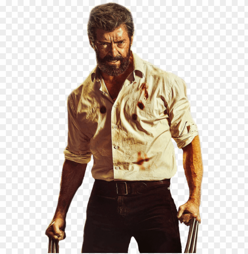 logan wolverine png vector library stock.