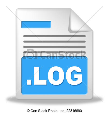 Stock Illustration of Log File Represents Organized Logbook And.