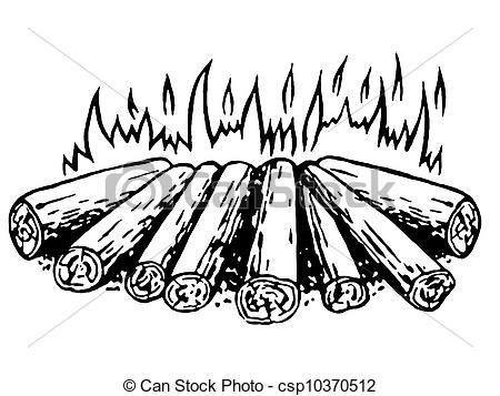Clip Art of A log fire csp10369627.
