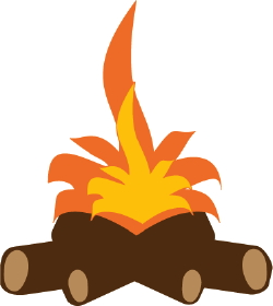 Gallery For > Low Log Fire Clipart.