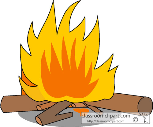 Log fire clipart.
