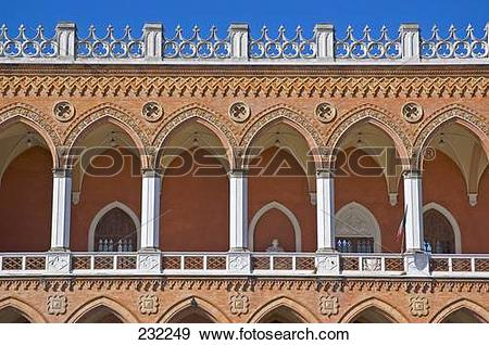 Stock Photograph of Low angle view of palace, Palazzo Duodo.