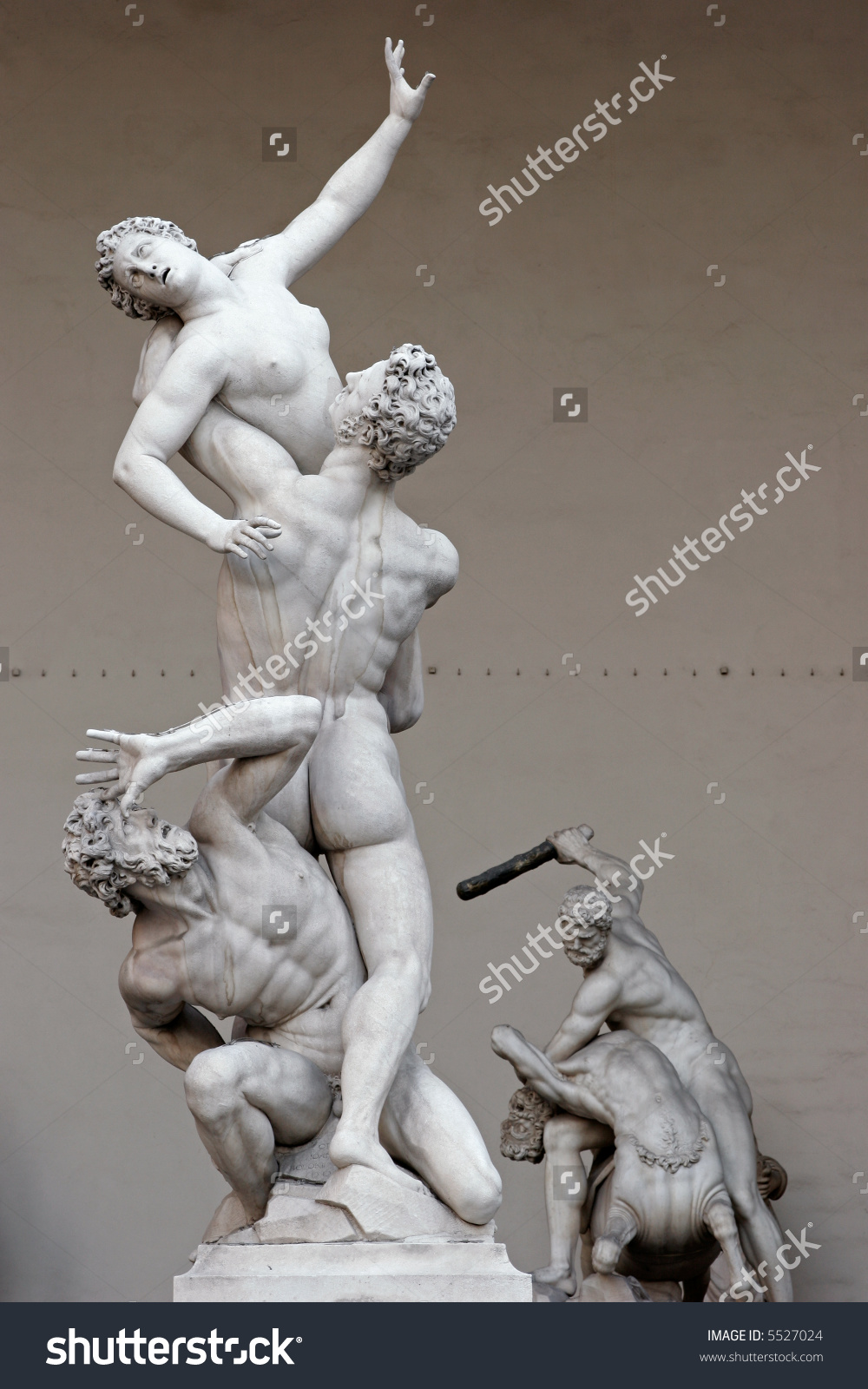 Rape Sabine Women By Giambologna Statue Stock Photo 5527024.