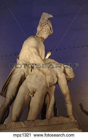Stock Photography of Menelaus supporting the body of Patroclus in.