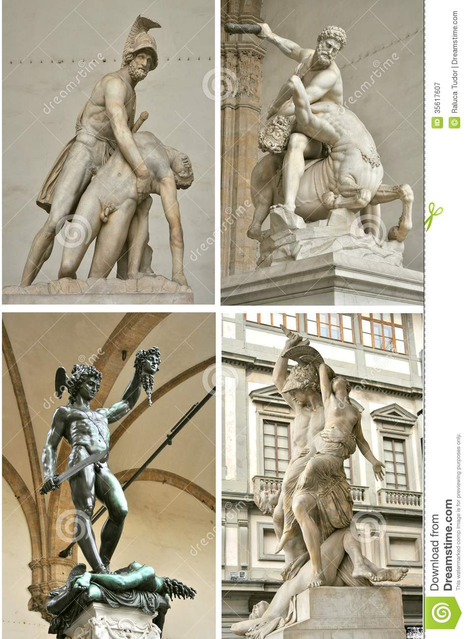 Loggia Dei Lanzi Art In Florence City , Italy Royalty Free Stock.