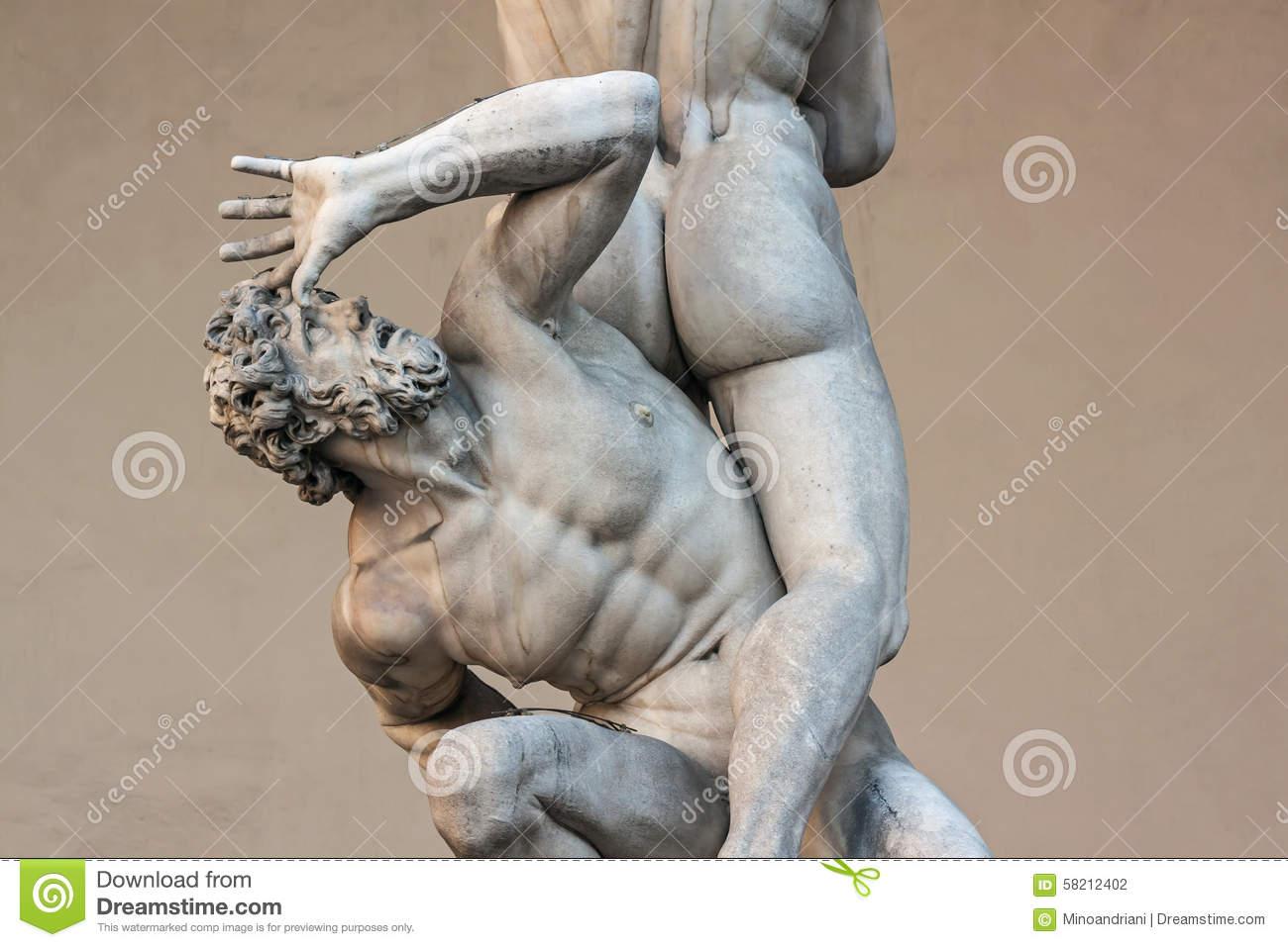 Piazza Della Signoria, Loggia Dei Lanzi, Sculpture Rape Of The.