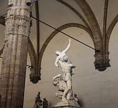 Stock Photograph of Statue of Rape of the Sabine women, by.