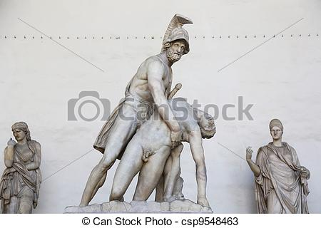 Stock Photos of Menelaus Patroclus Loggia dei Lanzi.