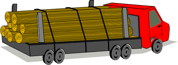 Free Clipart Logging Truck.