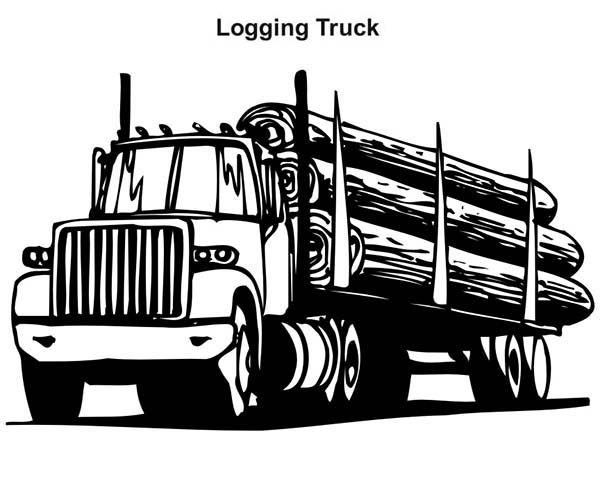 Log Truck Clipart.