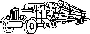 Log Truck Clipart.