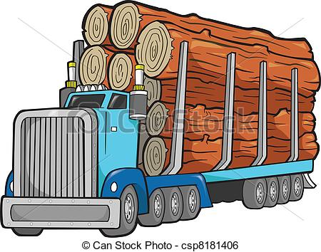 Logging truck Clipart Vector Graphics. 212 Logging truck EPS clip.