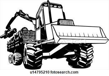 Logging Equipment Clipart.