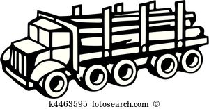 Logging truck Clipart Vector Graphics. 209 logging truck EPS clip.