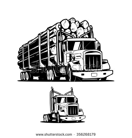 Free clipart logging truck.