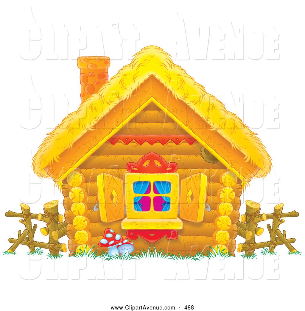 Log Home Clipart.