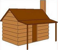 Log House Clipart.