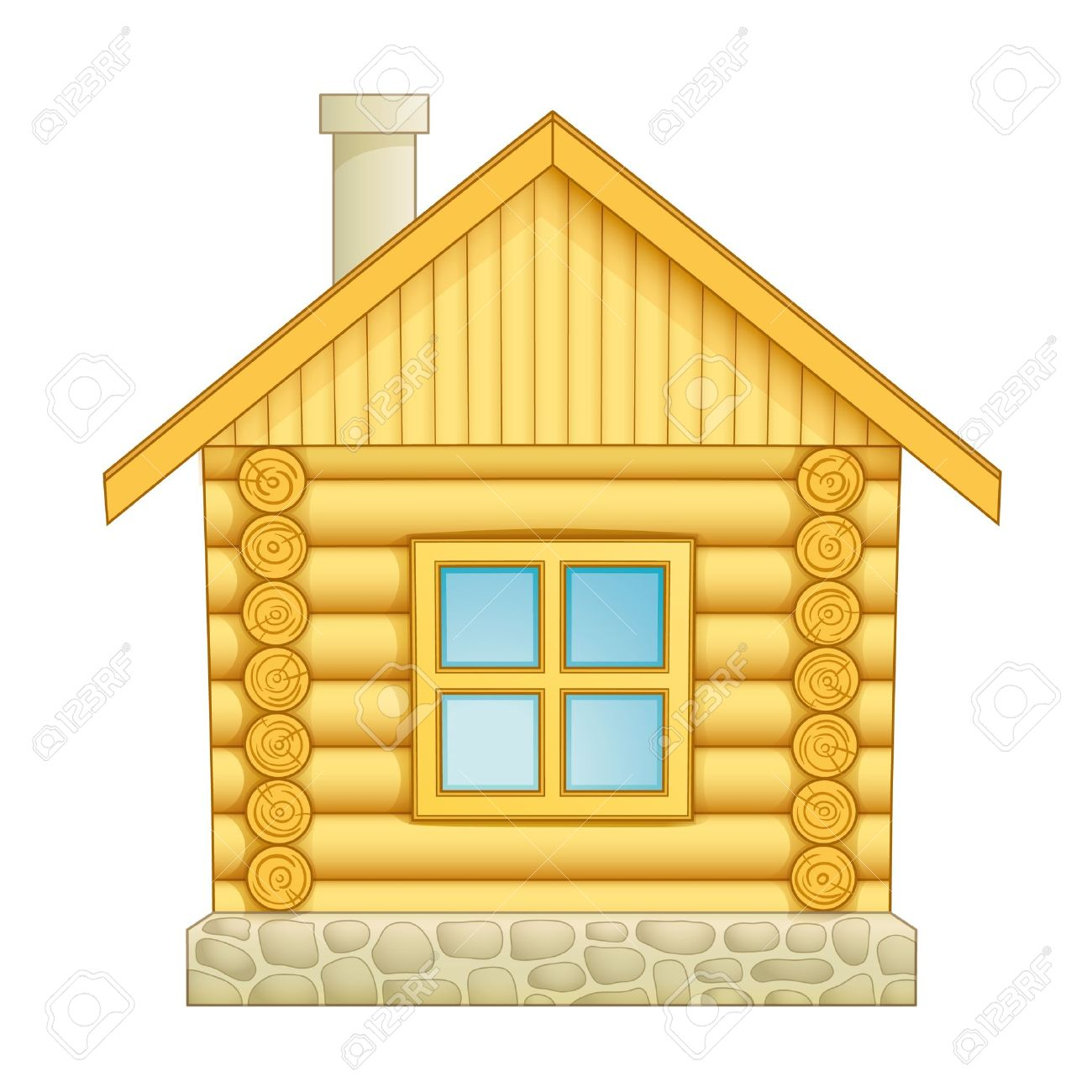 Little log house clipart.