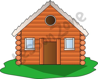 Clipart log house.