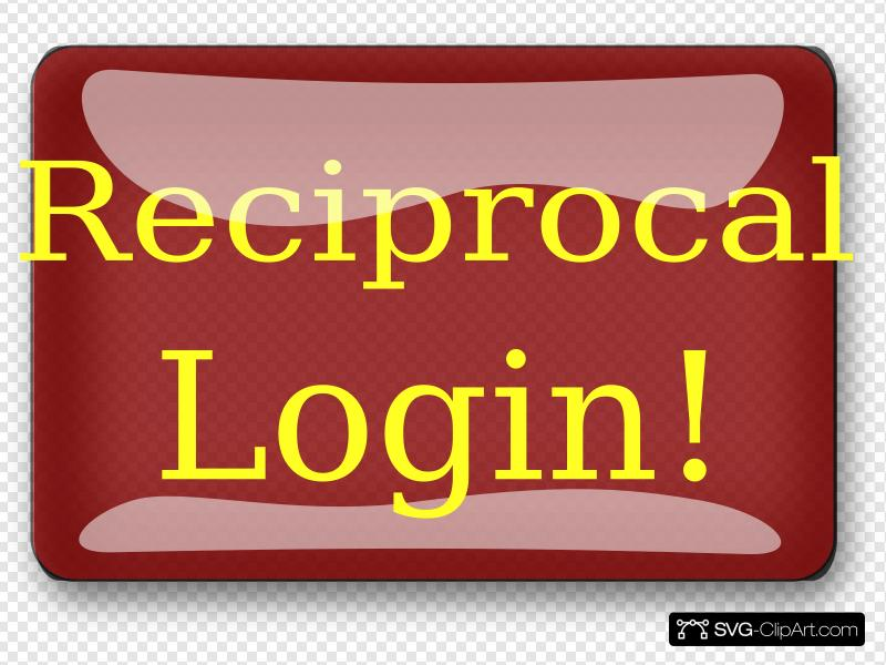 Red Rectangle Reciprocal Login Button Clip art, Icon and SVG.