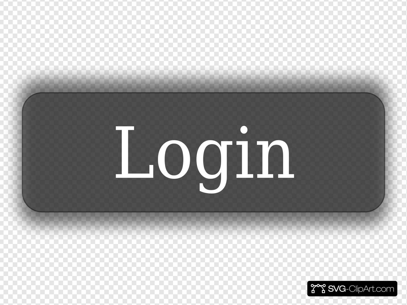 Thin Gray Login Button Clip art, Icon and SVG.