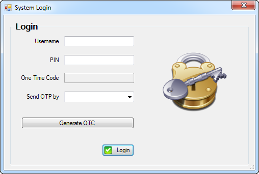 A one time password login system for your C# application.
