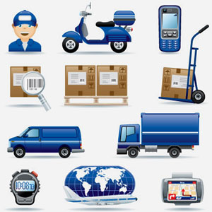 Logistic Clip Art, Vector Logistic.