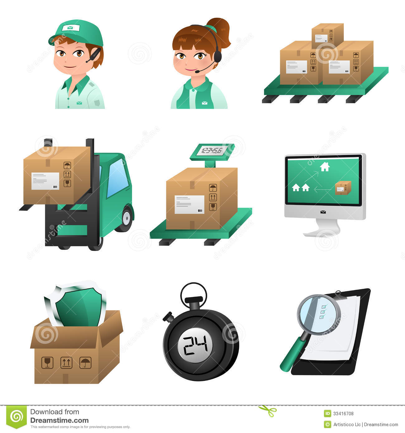 Logistic Icons Royalty Free Stock Photos.
