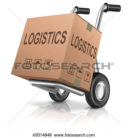 Stock Photo of Logistic concept, container cargo ship transport.
