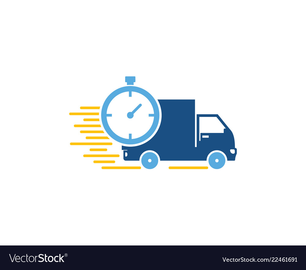 Time logistic logo icon design.