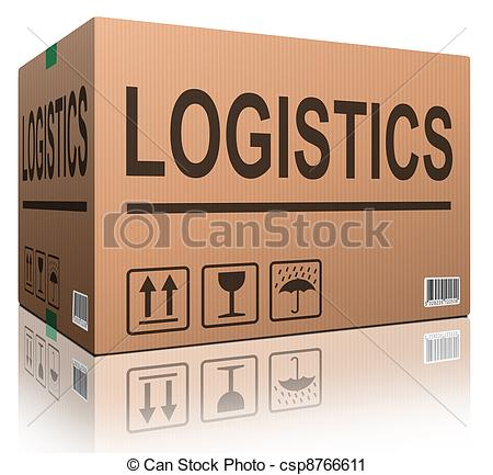 Clipart of logistics carboard box.