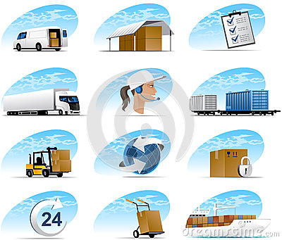 Logistic Icons Stock Vector.