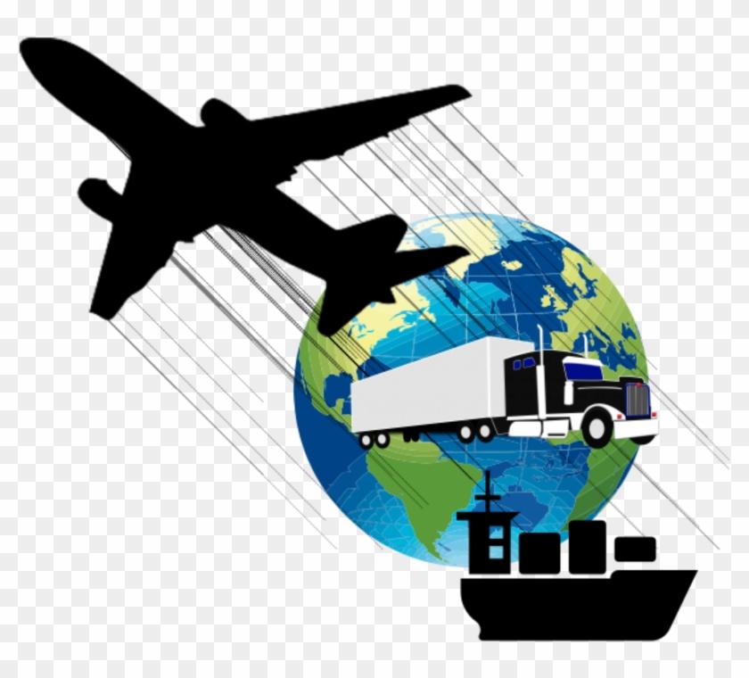 Logistics Options And Transportation Vector Clipart.