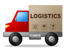 Logistics Truck Shows Strategies Logistical Transporting Stock.